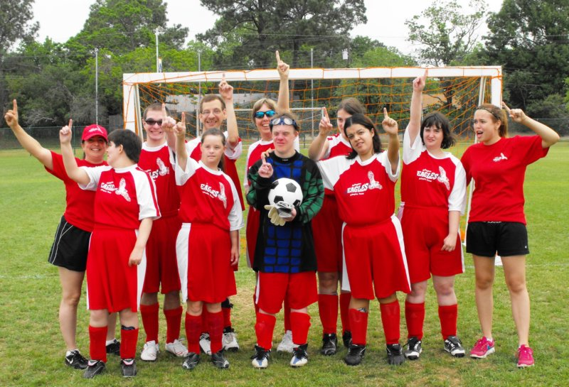Katy and the soccer team